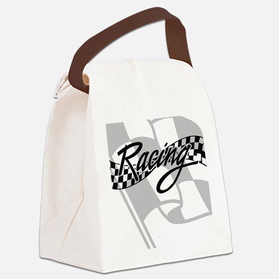 Racing Flag Canvas Lunch Bag