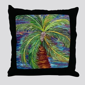 Funcky Palm Tree Throw Pillow