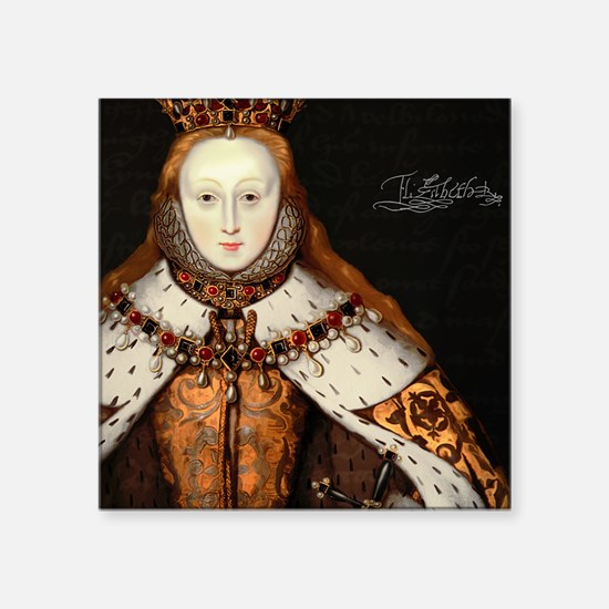 "Elizabeth I Coronation Square Sticker 3"" x 3"""
