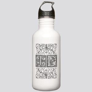 JD, initials, Stainless Water Bottle 1.0L