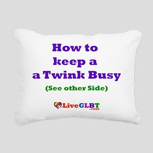 Keep Twink Busy Rectangular Canvas Pillow