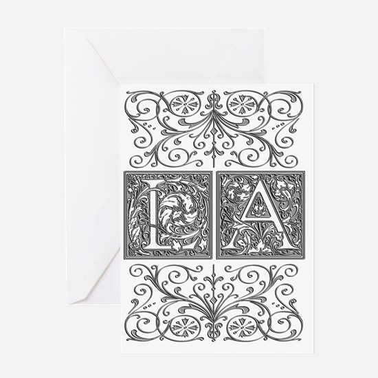 LA, initials, Greeting Card