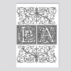 LA, initials, Postcards (Package of 8)
