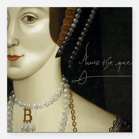"Anne Boleyn Square Car Magnet 3"" x 3"""