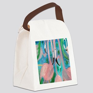 Flamingo party Canvas Lunch Bag