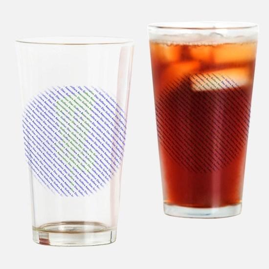 Disc Golfers Association Typography Drinking Glass