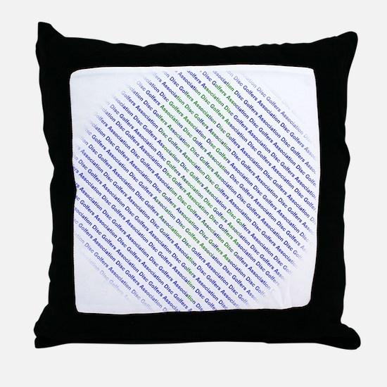 Disc Golfers Association Typography Throw Pillow