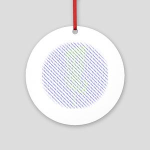 Disc Golfers Association Typography Round Ornament
