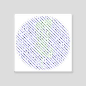 """Disc Golfers Association Ty Square Sticker 3"""" x 3"""""""