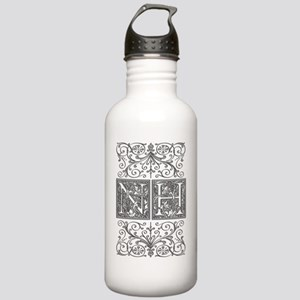 NH, initials, Stainless Water Bottle 1.0L