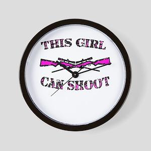 This Girl Can Shoot Wall Clock