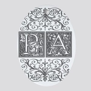 PA, initials, Oval Ornament