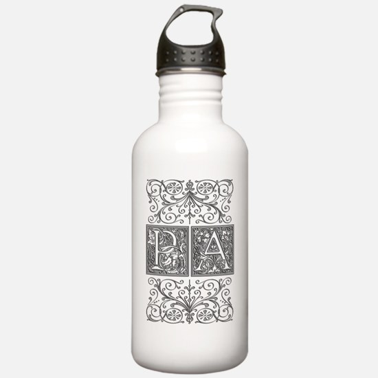 PA, initials, Water Bottle