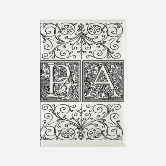 PA, initials, Rectangle Magnet