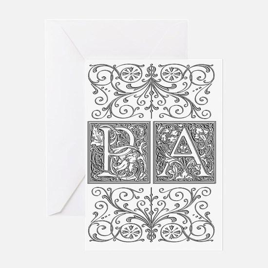PA, initials, Greeting Card