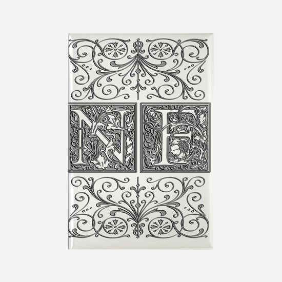 NF, initials, Rectangle Magnet