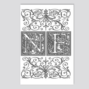 NF, initials, Postcards (Package of 8)