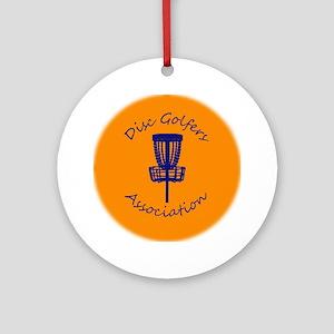 Orange Disc golf Disc Round Ornament