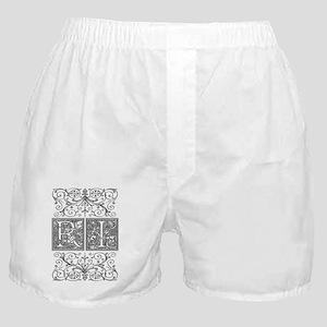 RI, initials, Boxer Shorts