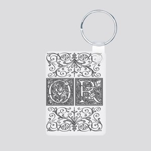 OR, initials, Aluminum Photo Keychain