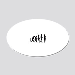 evolution saxophone player 20x12 Oval Wall Decal