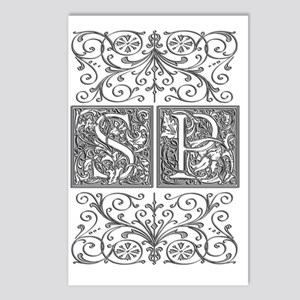 SP, initials, Postcards (Package of 8)