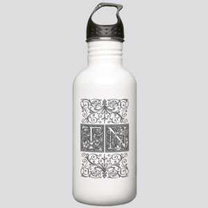TN, initials, Stainless Water Bottle 1.0L