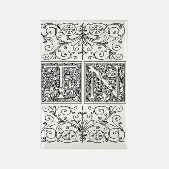 TN, initials, Rectangle Magnet