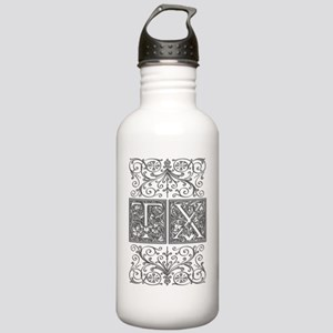 TX, initials, Stainless Water Bottle 1.0L