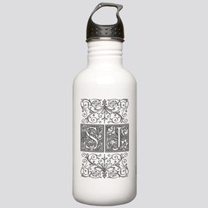 SJ, initials, Stainless Water Bottle 1.0L