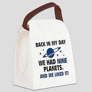 nineplanetss3B Canvas Lunch Bag
