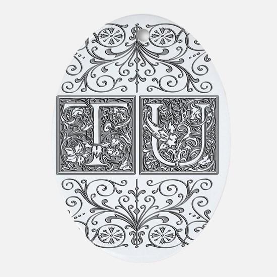 TU, initials, Oval Ornament