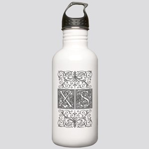 XS, initials, Stainless Water Bottle 1.0L