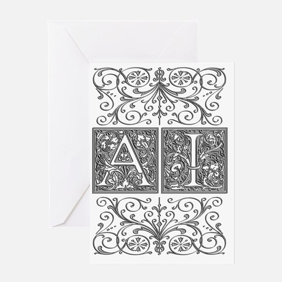 AI, initials, Greeting Card