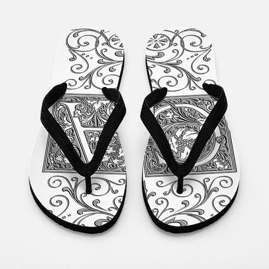 CA, initials, Flip Flops