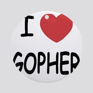 I heart GOPHER Round Ornament