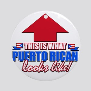 This is what Puerto rican Round Ornament