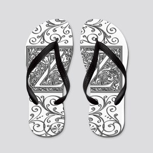ZZ, initials, Flip Flops