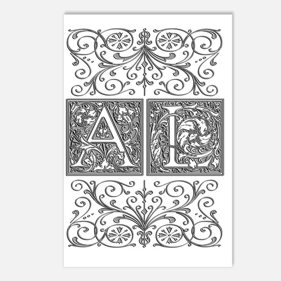 AL, initials, Postcards (Package of 8)