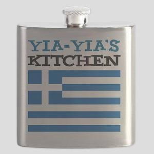 Yia-Yias Kitchen apron Flask
