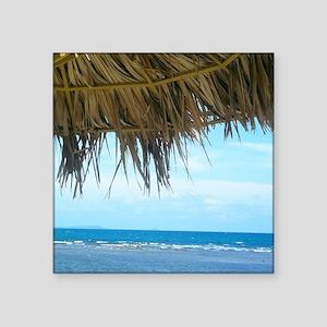 """La Guancha Beach Square Sticker 3"""" x 3"""""""