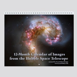 Hubble Telescope 12 Month Wall Calendar