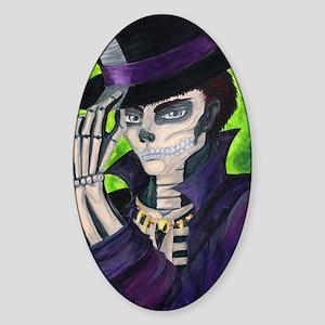 Voodoo Etiquette Sticker (Oval)