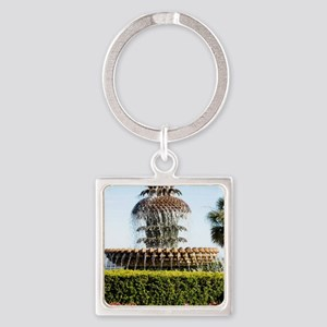 Charleston SC Waterfront Park Square Keychain