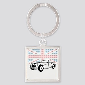 Austin-Healey Union Jack Square Keychain
