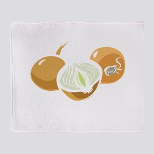 onionsBitc1B Throw Blanket
