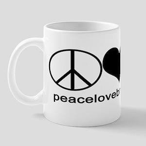 PeaceLoveBreastfeeding Sticker Mug