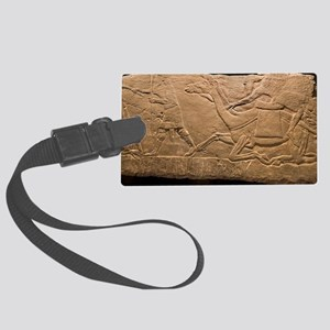 Assyrian Relief Large Luggage Tag