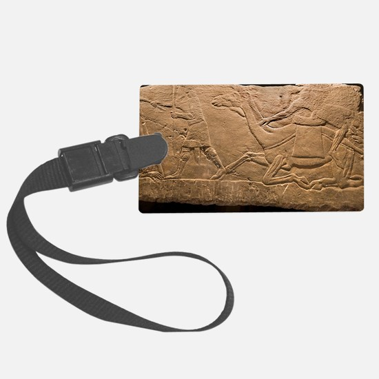 Assyrian Relief Luggage Tag