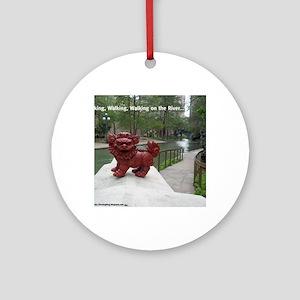Riverwalk Foo Round Ornament